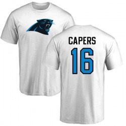 Men's Avius Capers Carolina Panthers Name & Number Logo T-Shirt - White