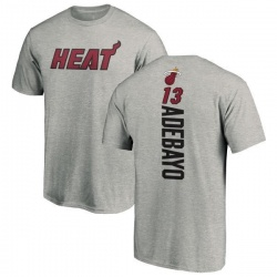 Men's Bam Adebayo Miami Heat Ash Backer T-Shirt