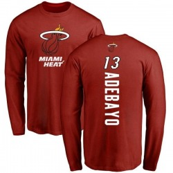Men's Bam Adebayo Miami Heat Cardinal Backer Long Sleeve T-Shirt
