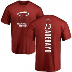 Men's Bam Adebayo Miami Heat Cardinal Backer T-Shirt