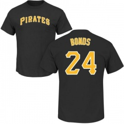 Men's Barry Bonds Pittsburgh Pirates Roster Name & Number T-Shirt - Black