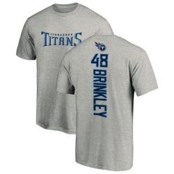 Men's Beau Brinkley Tennessee Titans Backer T-Shirt - Ash