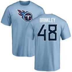 Men's Beau Brinkley Tennessee Titans Name & Number Logo T-Shirt - Light Blue