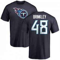 Men's Beau Brinkley Tennessee Titans Name & Number Logo T-Shirt - Navy