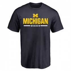 Men's Ben Braden Michigan Wolverines Sport Wordmark T-Shirt - Navy