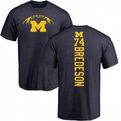 Men's Ben Bredeson Michigan Wolverines Football Backer T-Shirt - Navy