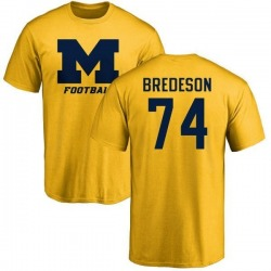 Men's Ben Bredeson Michigan Wolverines One Color T-Shirt - Yellow