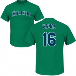 Men's Ben Gamel Seattle Mariners Roster Name & Number T-Shirt - Green