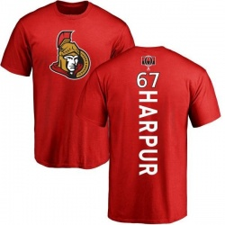 Men's Ben Harpur Ottawa Senators Backer T-Shirt - Red