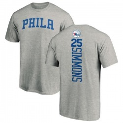 Men's Ben Simmons Philadelphia 76ers Ash Backer T-Shirt