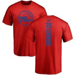 Men's Ben Simmons Philadelphia 76ers Red One Color Backer T-Shirt