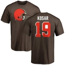 Men's Bernie Kosar Cleveland Browns Name & Number Logo T-Shirt - Brown