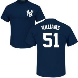 Men's Bernie Williams New York Yankees Roster Name & Number T-Shirt - Navy