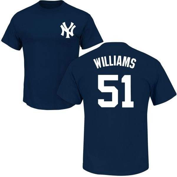 half off a3571 fac56 Men's Bernie Williams New York Yankees Roster Name & Number T-Shirt - Navy  - Teams Tee