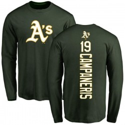 Men's Bert Campaneris Oakland Athletics Backer Long Sleeve T-Shirt - Green