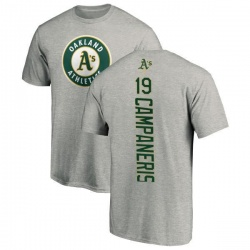 Men's Bert Campaneris Oakland Athletics Backer T-Shirt - Ash