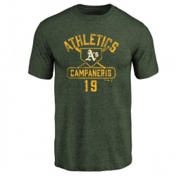 Men's Bert Campaneris Oakland Athletics Base Runner Tri-Blend T-Shirt - Green