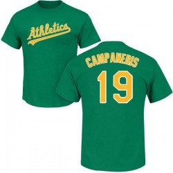 Men's Bert Campaneris Oakland Athletics Roster Name & Number T-Shirt - Green
