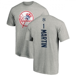 Men's Billy Martin New York Yankees Backer T-Shirt - Ash