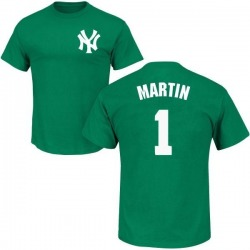 Men's Billy Martin New York Yankees St. Patrick's Day Roster Name & Number T-Shirt - Green