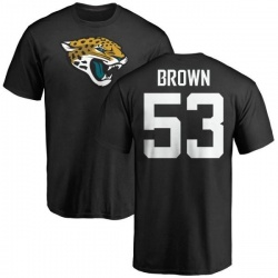 Men's Blair Brown Jacksonville Jaguars Name & Number Logo T-Shirt - Black