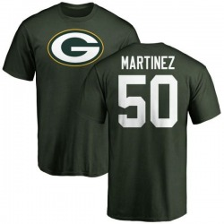Men's Blake Martinez Green Bay Packers Name & Number Logo T-Shirt - Green
