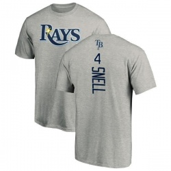 Men's Blake Snell Tampa Bay Rays Backer T-Shirt - Ash