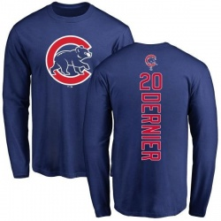 Men's Bob Dernier Chicago Cubs Backer Long Sleeve T-Shirt - Royal