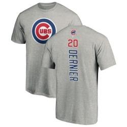 Men's Bob Dernier Chicago Cubs Backer T-Shirt - Ash