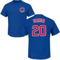 Men's Bob Dernier Chicago Cubs Roster Name & Number T-Shirt - Royal