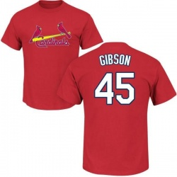 Men's Bob Gibson St. Louis Cardinals Roster Name & Number T-Shirt - Red