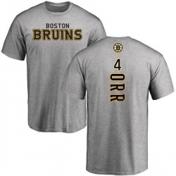 Men's Bobby Orr Boston Bruins Backer T-Shirt - Ash
