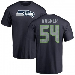 Men's Bobby Wagner Seattle Seahawks Name & Number Logo T-Shirt - Navy