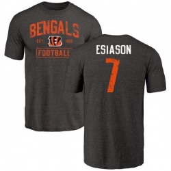 Men's Boomer Esiason Cincinnati Bengals Black Distressed Name & Number Tri-Blend T-Shirt