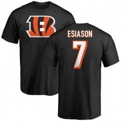 Men's Boomer Esiason Cincinnati Bengals Name & Number Logo T-Shirt - Black