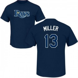 Men's Brad Miller Tampa Bay Rays Roster Name & Number T-Shirt - Navy
