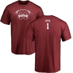 Men's Brad Wall Mississippi State Bulldogs Football Backer T-Shirt - Maroon