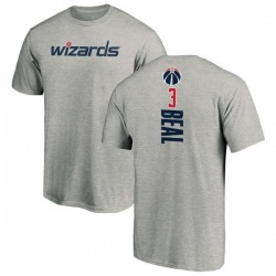 Men's Bradley Beal Washington Wizards Ash Backer T-Shirt