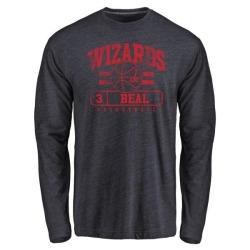 Men's Bradley Beal Washington Wizards Navy Baseline Tri-Blend Long Sleeve T-Shirt