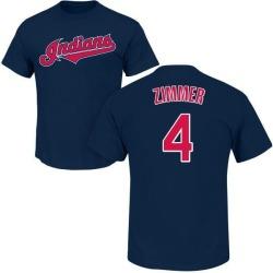 Men's Bradley Zimmer Cleveland Indians Roster Name & Number T-Shirt - Navy
