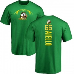 Men's Brady Aiello Oregon Ducks Backer T-Shirt - Kelly Green