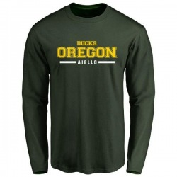 Men's Brady Aiello Oregon Ducks Sport Wordmark Long Sleeve T-Shirt - Green