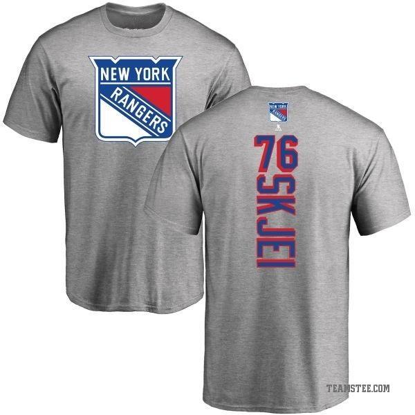 the latest 45003 9755e Men's Brady Skjei New York Rangers Backer T-Shirt - Ash - Teams Tee