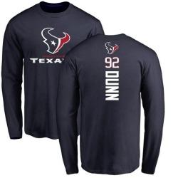 Men's Brandon Dunn Houston Texans Backer Long Sleeve T-Shirt - Navy