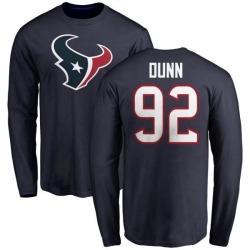 Men's Brandon Dunn Houston Texans Name & Number Logo Long Sleeve T-Shirt - Navy