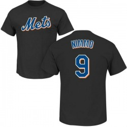 Men's Brandon Nimmo New York Mets Roster Name & Number T-Shirt - Black