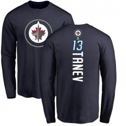 Men's Brandon Tanev Winnipeg Jets Backer Long Sleeve T-Shirt - Navy