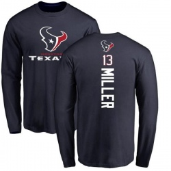 Men's Braxton Miller Houston Texans Backer Long Sleeve T-Shirt - Navy
