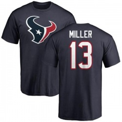 Men's Braxton Miller Houston Texans Name & Number Logo T-Shirt - Navy