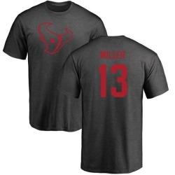 Men's Braxton Miller Houston Texans One Color T-Shirt - Ash